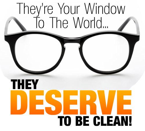 How do you clean eyeglasses?